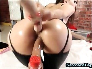 Big Ass Double Dildo Penetration