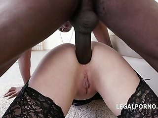 Submissive Gabriella Lat pleasured by whipping, double anal, BBC and forced orga