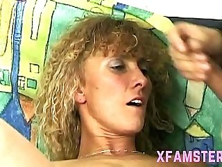 Hairy amateuer milf stepmother takes big cock fucking hard 4 huge facial later