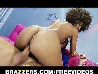 Sexy Ebony babe Misty Stone loves to deepthroat hard cock