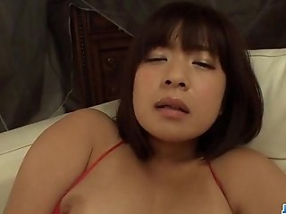 Wakaba Onoue milf in red lingerie fucking like crazy