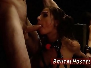 Extreme flexible anal Bondage, ball-gags, spanking, sexual harassment