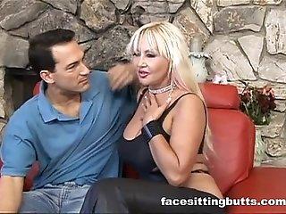 Ultra busty milf loves to swallow her lover's jizz